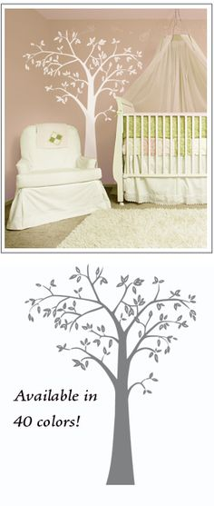 We ADORE these removable decals and can't wait to use this beautiful white tree in our baby's nursey :)