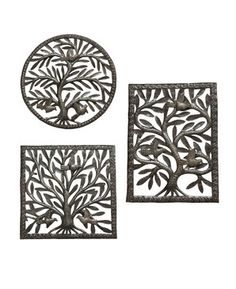Tree of Life Wall Trio, Fair Trade Haitian Metal Art