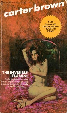 The Invisible Flamini - Carter Brown, cover by Robert McGinnis