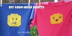 DIY Lego Head T-Shirts
