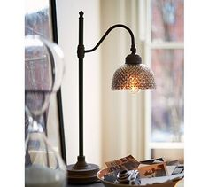 Chloe Hobnail Mercury Glass Task Table Lamp #potterybarn   Have this lamp and I Love it!