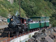 Oregon Coast Scenic Railroad: operate summer train rides from Garabaldi to Rockaway Beach along the oceanfront track using a 1910 Heisler Steam Locomotive.