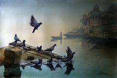 Amit Bhar, 1973 | Abstract Watercolor painter | Tutt'Art@ | Pittura * Scultura * Poesia * Musica |