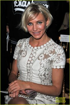 I love Cameron Diaz' new hairdo … will try to do this!!