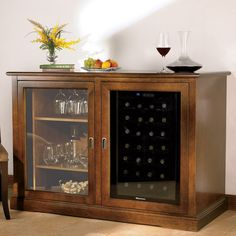Wine fridge and bar. My mom would love this