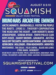 Squamish Valley Music Festival 2014 Lineup!   Apr. 8-10   Squamish, British Columbia - Pre-register for the ticket presale now!