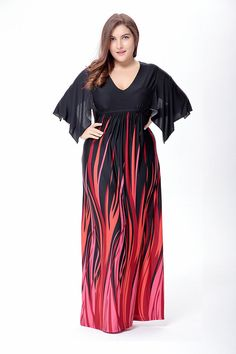 Plus Size Bohemia Beach Summer Lady V Neck Peacock Feather Printed Maxi Dress