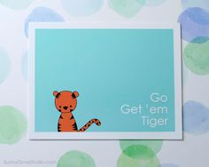 Tiger Pun Good Luck Card Best Wishes Graduation New Job Encouragement Special Occasion Fun Cute Handmade Greeting Cards Gifts For Him Her