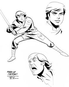 Bruce Timm  Star Wars sketches