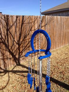 So cute! Rustic horseshoe wind chime on Etsy, $27.50