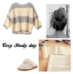 """""""cozy study day"""" by adina-6 ❤ liked on Polyvore featuring UGG Australia and Victoria's Secret"""