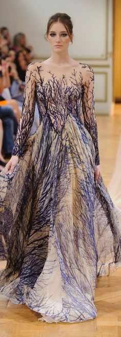 Couture by Zuhair Murad.  Pretty dress on the runway.