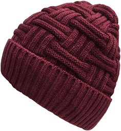 Loritta Men's Winter Thick Knit Skull Cap Daily Wool Warm Slouchy Beanie Hat -- Awesome products selected by Anna Churchill Best Winter Hats, Winter Hats For Men, Knitting Wool, Hand Knitting, Mens Winter Beanies, Knit Crochet, Crochet Hats, Best Stocking Stuffers, Knit Beanie Hat
