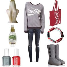 """Coca cola outfit"" by jenna-bo-benna on Polyvore"