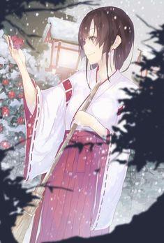 Anime girl || Miko