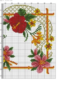 Gallery.ru / Fotoğraf 7. - 31 - Kento Needlepoint, Cross Stitch, Flowers, Projects, Crafts, Zoom Zoom, Mantels, Gallery, Jewellery