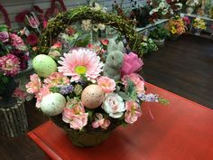Easter basket by Andi at Silk Florals 2017