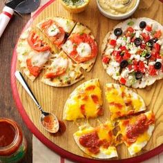 Appetizer Pizzas Recipe from Taste of Home