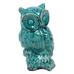 Urban Trends Antique Ceramic Owl - 8H in. - 11140