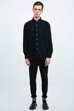 Urban Renewal Vintage Customised Cord Shirt in Black