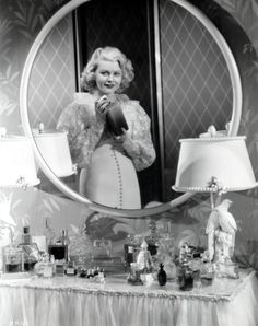 I never get tired of this picture of Barbara Pepper's lovely dressing table <3