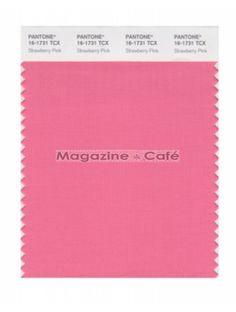Pantone Smart 16-1731 TCX Color Swatch Card, Strawberry Pink - Pantone