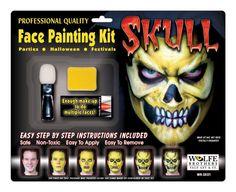 Skull Makeup Kit Wolfe Bros - Halloween Costumes
