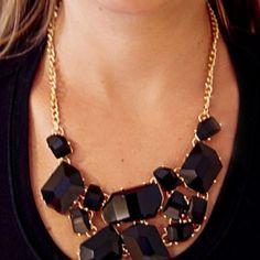 Bib Necklace Black
