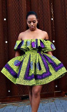 Evelyn 2 Piece Off Shoulder Top and Gather Skirt. Ankara | Dutch wax | Kente | Kitenge | Dashiki | African print dress | African fashion | African women dresses | African prints | Nigerian style | Ghanaian fashion | Senegal fashion | Kenya fashion | Nigerian fashion | Ankara crop top (affiliate)