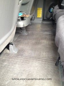 Plastic carpet liner for floorboards in car. Protect from muddy shoes, carsick kids, and crumbs!