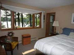 A master bedroom with a lake view on the Eagle River Chain - MLS #142518 - 1562 Mckinley Blv, Eagle River, WI 54521