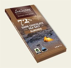 72% Organic Dark Chocolate with Sea Salt & Almonds *TRAIL SERIES*