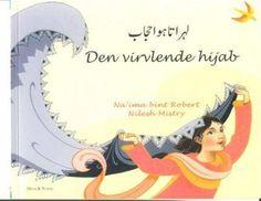 Om boka:  Tospråklig billedbok om en liten jente som leker med morens hijab.  Bli med jenta inn i en spennende fantasiverden. Med hijaben blir hun en modig krigerdronning, en eventyrlysten nomade i ørkenen og en vakker brud. Boka har enkel tekst og en stor lesbar font.