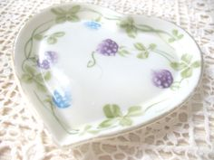 SALE Vintage Porcelain Heart Dish by Vintagegirlsfinds on Etsy, $8.00 ***Valentine's Day Sale*** Take 10% off your entire purchase through 2/11.