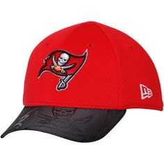 New Era Tampa Bay Buccaneers Toddler Red 2016 Sideline Official 39THIRTY Flex Hat