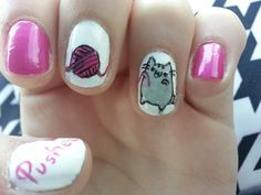 ♥ Pusheen nails ♡