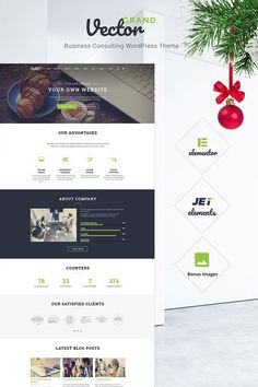 Grand Vector - Business Consulting WordPress Theme #66226
