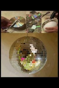 2  DIY Upcycled CD Disco Ball