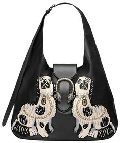 07cf9e3cb6d Gucci Dionysus Embroidered Black Leather Hobo Bag 44% off retail