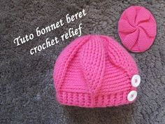 TUTO BONNET BERET CROCHET RELIEFcrochet hat relief GORRO RELIEVE CROCHET TEJIDO - YouTube Crochet Turban, Bonnet Crochet, Crochet Baby Hats, Easy Crochet, Knitted Hats, Knit Crochet, Crochet En Relief, Wool And The Gang, Crochet Stitches