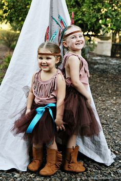 20 crafty days of halloween) no-sew indian costumes