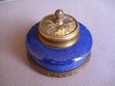 Sevres Blue Glaze Porcelain Inkwell Paul Milet 1870 1950 | eBay