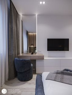 Outstanding modern bedroom designs are readily available on our internet site. Take a look and you wont be sorry you did. Modern Luxury Bedroom, Luxury Bedroom Design, Bedroom Closet Design, Tv In Bedroom, Bedroom Furniture Design, Home Room Design, Luxurious Bedrooms, Home Decor Bedroom, Home Interior Design