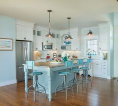 Check Out 20 Amazing Beach Inspired Kitchen Designs. A coastal kitchen is a fantastic peaceful place where you'll feel relaxed and holiday-like.