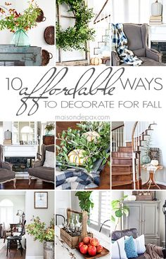 10 tips for affordable fall decorating: such creative budget friendly ideas…