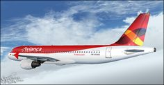 Fs Paint Col: Textura Avianca A320 WILCO Ava, Aircraft, Vehicles, Painting, Weird, Aviation, Airplane, Painting Art, Cars