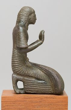 Priest kneeling  Bronze, New Kingdom ca. 1250-1070 B.C.