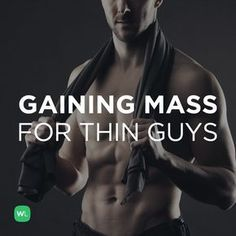 Thin and want to gain mass? Visit for tips on how to train and eat to gain lean mass Muscle Mass, Gain Muscle, Mass Gain Diet, Hypertrophy Training, Big Muscle Training, Weight Training, Weight Gain Diet, Build Muscle Fast, Bulk Up
