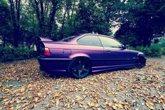 BMW E36 M3 purple slammed