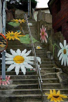 Flowering stairs - (Spain)